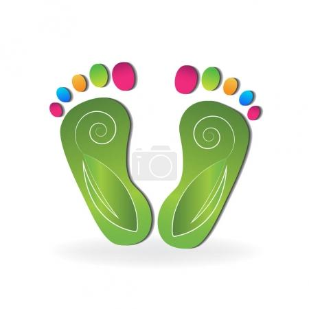 Illustration for Podiatry icon logo vector - Royalty Free Image
