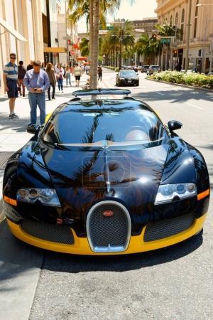 Bugatti Veyron supercar parked in