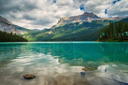 Photo for Emerald Lake in Yoho National Park, BC, Canada with the Emerald Lake lode in he background - Royalty Free Image