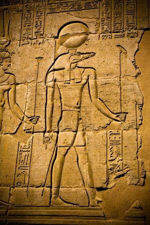 Photo pour Hiéroglyphes dans le temple Kom Ombo, Égypte - image libre de droit