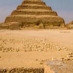 Step Pyramid of Djoser in Saqqara, Egypt...