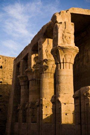 Photo pour Le temple d'Horus à Edfou, Egypte - image libre de droit