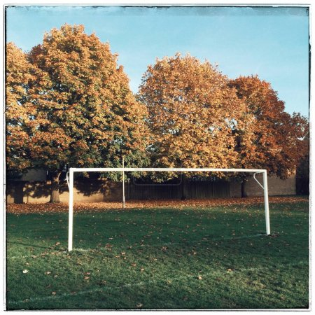 Empty Goalposts in Autumn