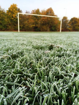 Frost on a Football Pitch