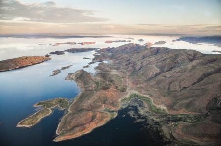 lake argyle with mountains