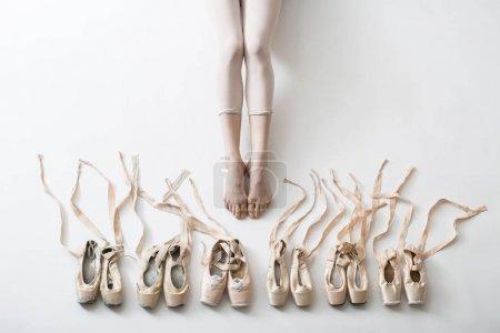 Legs of a young ballerina