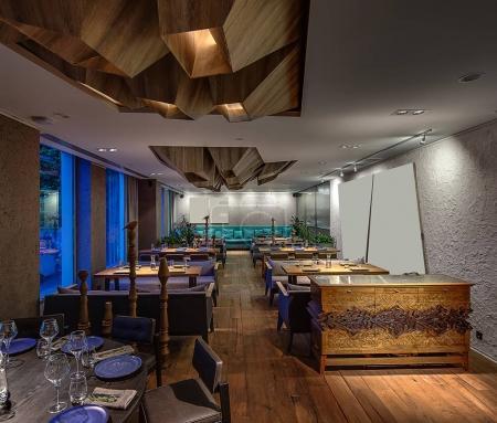 Restaurant in modern style