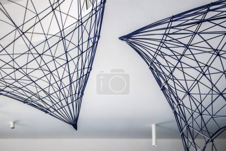 Metal constructions under ceiling