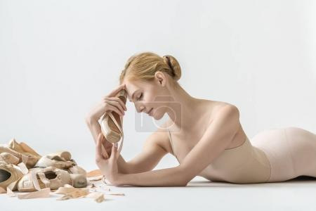 Ballerina with pointe shoes