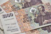 Icelandic krona banknotes