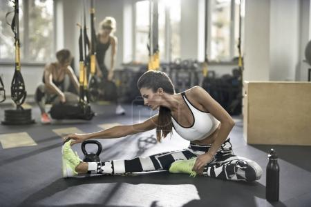 Athletic girl in gym