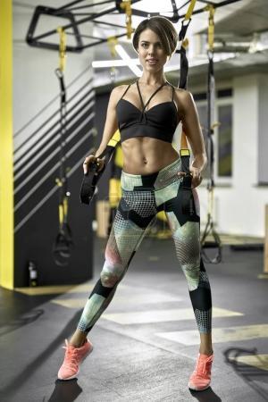 Sportive girl in gym