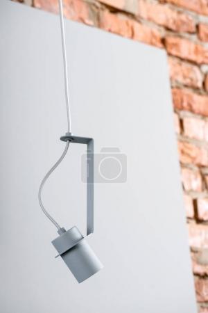 Hanging metal gray lamp