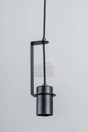 Hanging metal black lamp