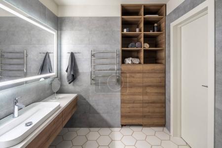 Stylish bathroom in modern style