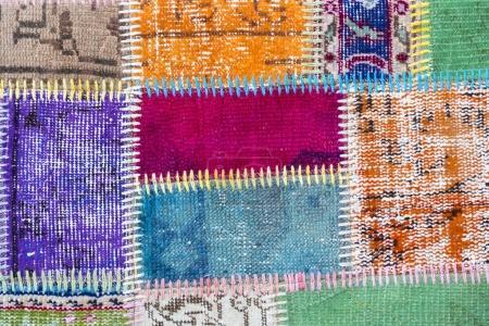 Texture d'un morceau de vieux tapis