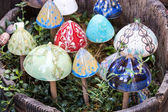 Traditional Hungarian ceramics are ceramic mushrooms for decorating pots