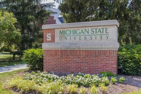 Photo pour Michigan State University (MSU) est une université publique de recherche à East Lansing, Michigan, États-Unis. MSU a été fondée en 1855 et a servi de modèle pour les universités de concession de terres plus tard créé en vertu de la Loi Morrill de 1862 . - image libre de droit