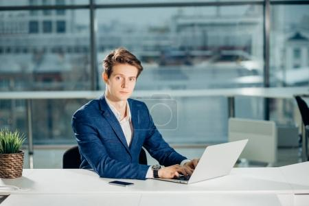 working on computer laptop online, businessman, person using wifi internet
