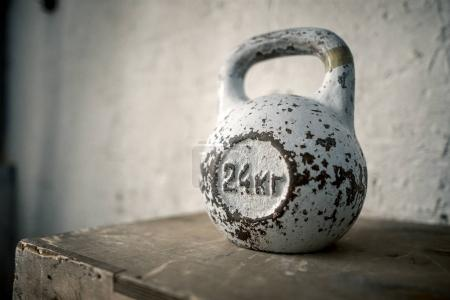 Kettlebell background on white background