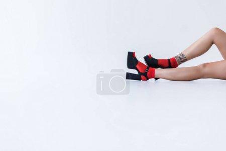 Fashionable girl in heels