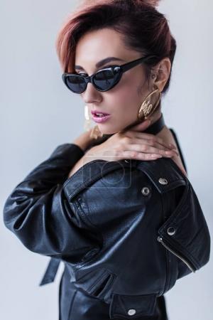 Fashionable girl in sunglasses