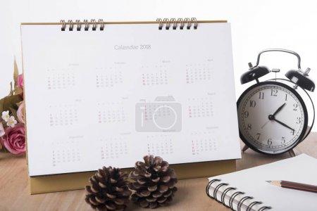 Calendar 2018 on desk office. organization management remind