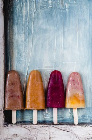Assorted fruit popsicles