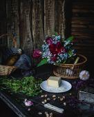 Постер Сыр цветы оливкового масла и