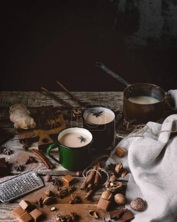 Tea masala served in mugs