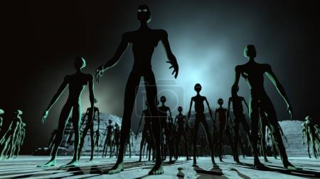 Alien Leader and Army