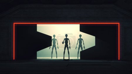 Aliens Reveal behind Space Station Gate