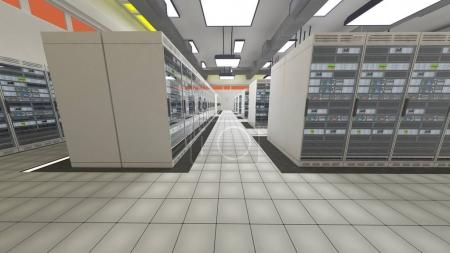 Modern Data Center Server Room