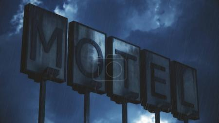 Old Grungy Motel Sign in Rai