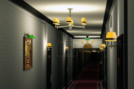 Fancy Hotel Corridor