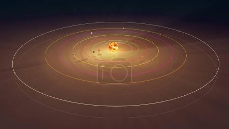 TRAPPIST-1 System 3D Illustration