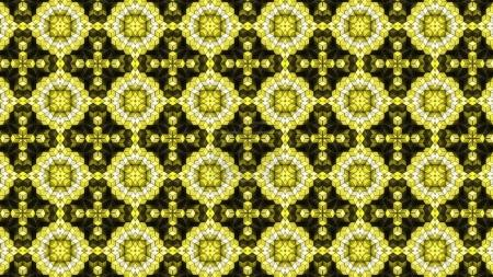 Yellow 3D Blocks Abstract Background