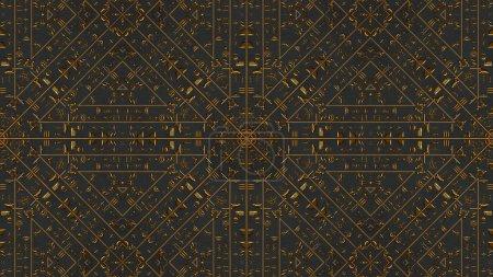 Photo pour Illustration de Kaleida or hiéroglyphes égyptiens - image libre de droit