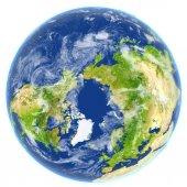 Severní ledový oceán na planetě Zemi