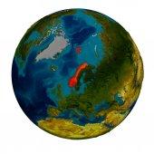 Norsko na zeměkouli