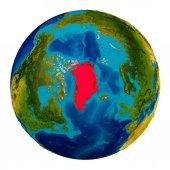 Grónsko na zeměkouli