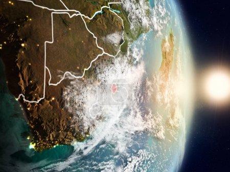Swaziland during sunrise