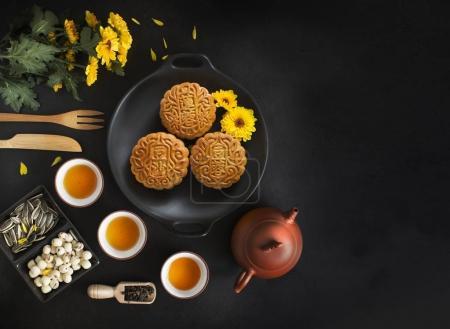Mid autumn festival chinese mooncakes