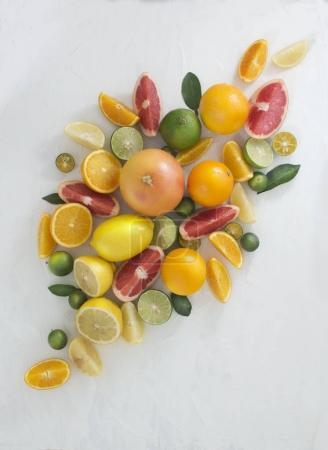 slices of fresh citrus fruits