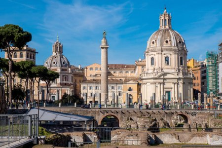 Trajan Forum and Trajan Column in Rome, Italy