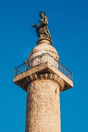Trajan's Column (Colonna Traiana) in Rome, Italy. Commemorates R