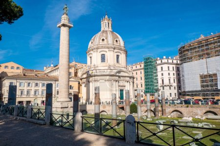 The Ancient ruins of Trajan's Forum and Trajan Column in Rome, I
