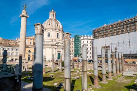 Trajan's Forum and Trajan Column in Rome, Italy