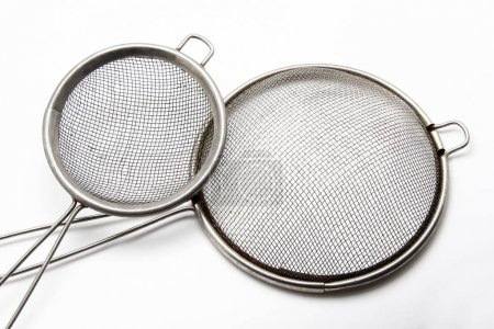 The strainer on white background...