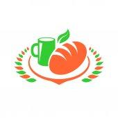 Breakfast logo Foods Clip Art set illustration